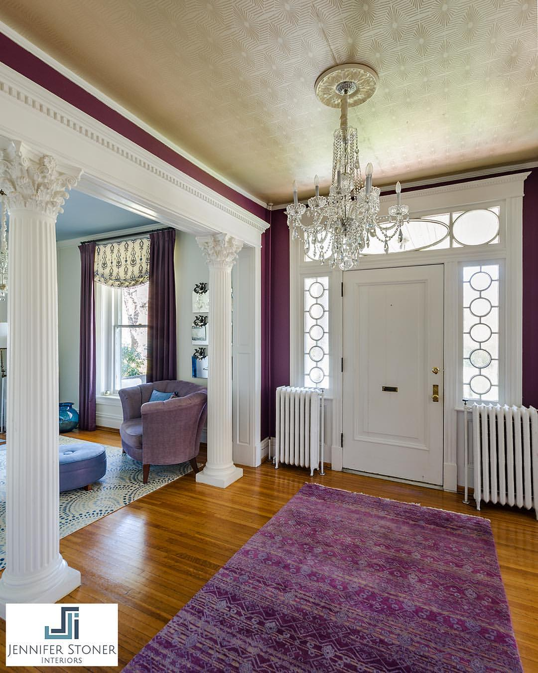 Looking Back At This Regal Foyer We Designed In Historic Richmond Home Love The