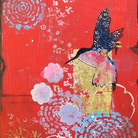 """""""Hachidori"""", in the studio, celebrating sunny Spring days with color and pattern"""